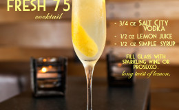 Fresh 75 cocktail